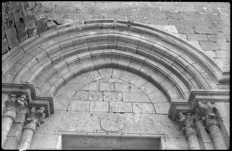 Tympan du portail nord de la chapelle
