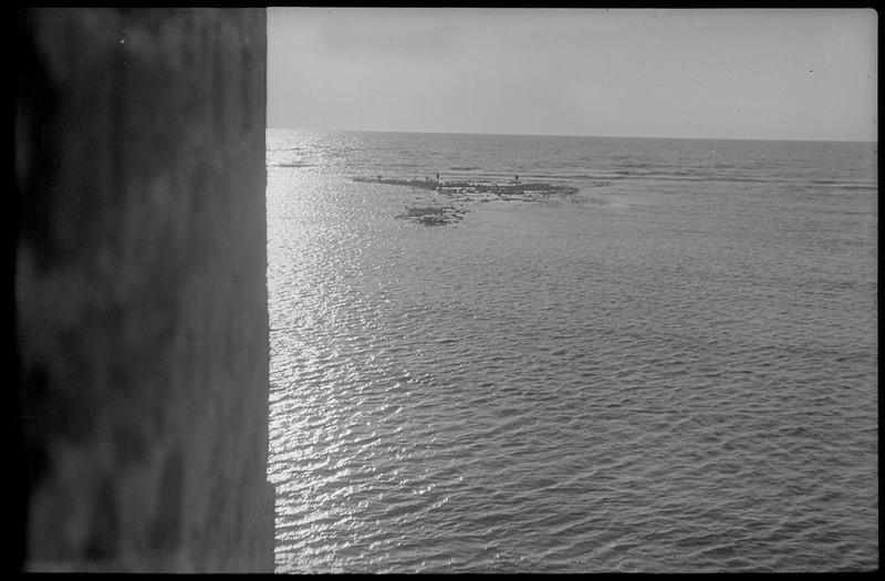 La mer et les affleurements de la citadelle