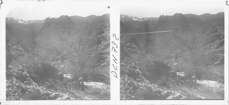 Vue du générale du château d'Akkar, prise depuis l'ouest