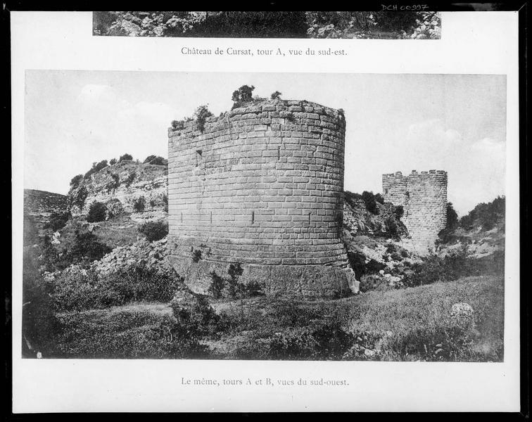 Grandes tours de l'enceinte vues du sud-ouest
