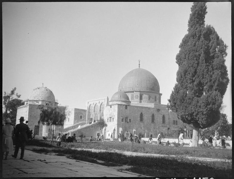 Congrès archéologique de Syrie, Liban et Palestine en 1926: vue d'ensemble de la mosquée d'Omar