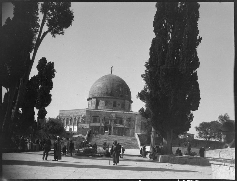 Congrès archéologique de Syrie, Liban et Palestine en 1926: façade de la mosquée d'Omar