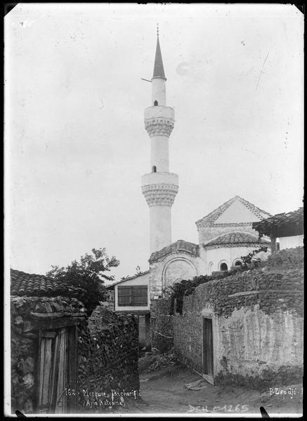 Chevet de l'église-mosquée, avec son minaret à deux balcons
