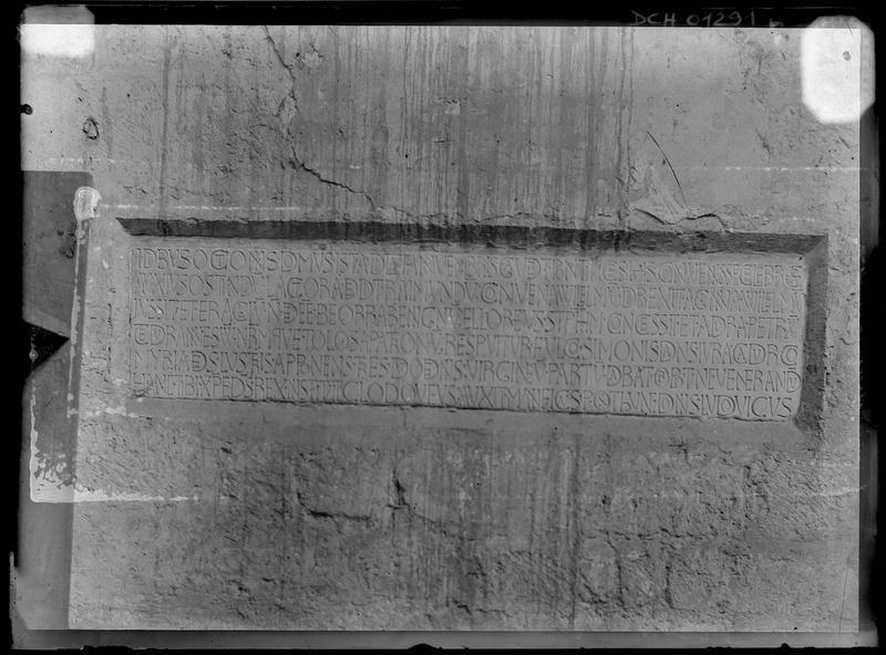 Plaque de dédicace, 1063