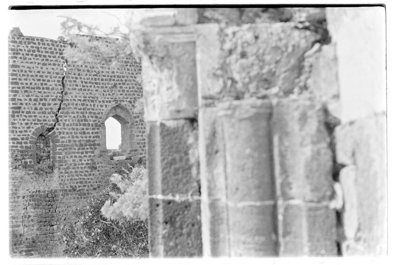 Détail de parements à l'intérieur du château