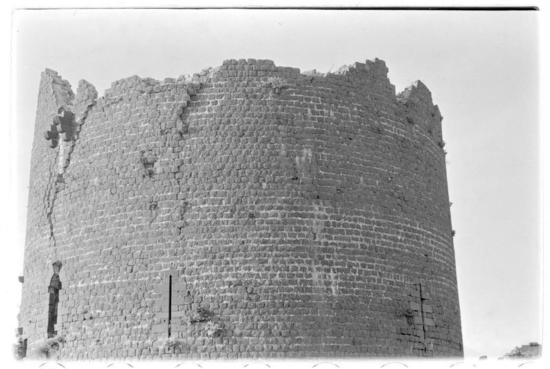 Vue générale de la partie supérieure de la tour maîtresse