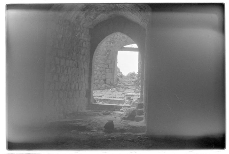 Vue des couloirs intérieurs du château