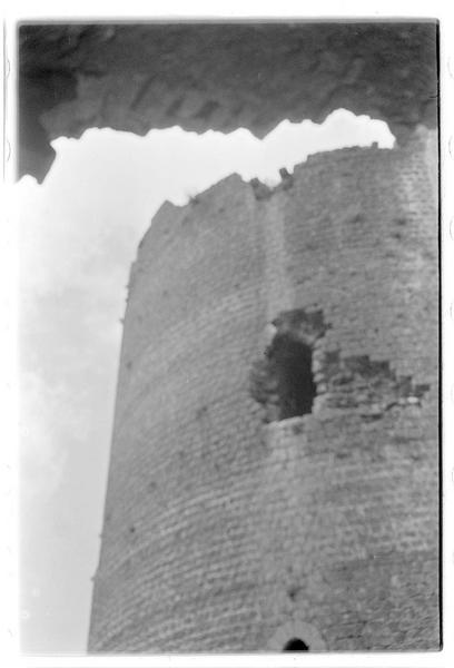 Vue de la partie supérieure de la tour maîtresse