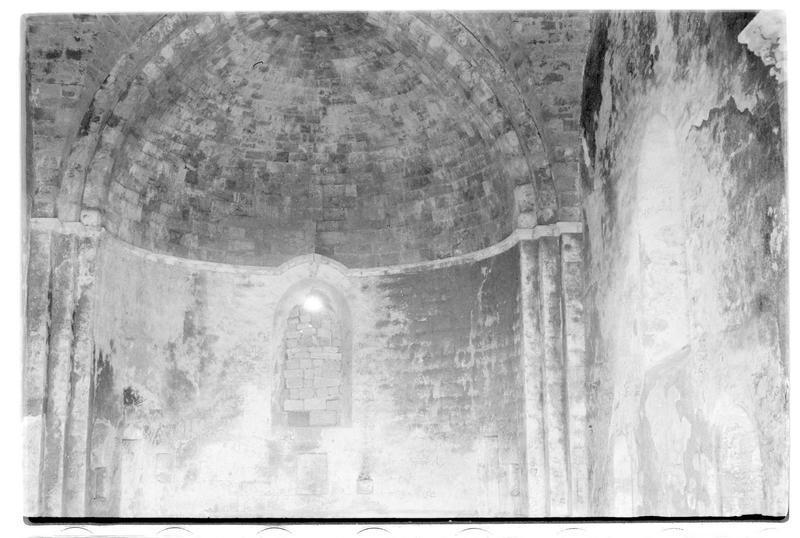 Vue intérieure de la voûte du choeur de la chapelle