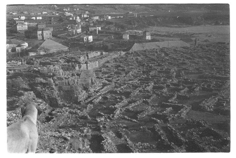 Vue des vestiges au devant du château