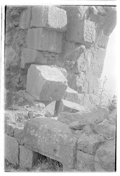 Détail d'une poterne mamelouke avec emplacement de herse