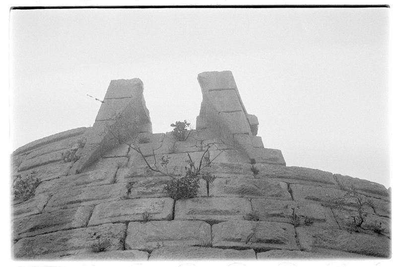 Détail de la partie sommitale d'une tour du château haut