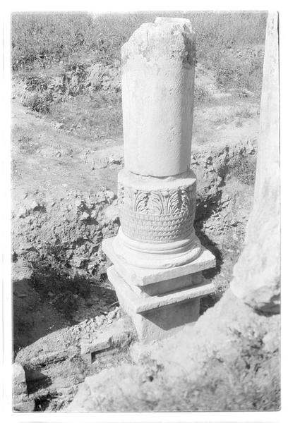 Colonne sur le site antique