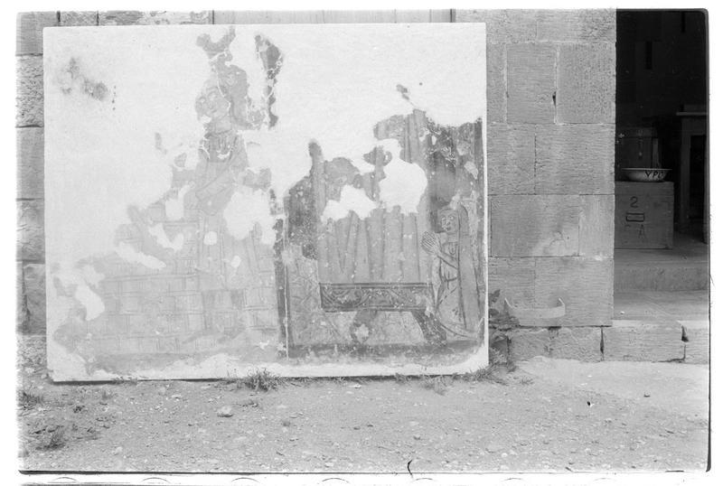 Fragment déposé d'une fresque de la chapelle