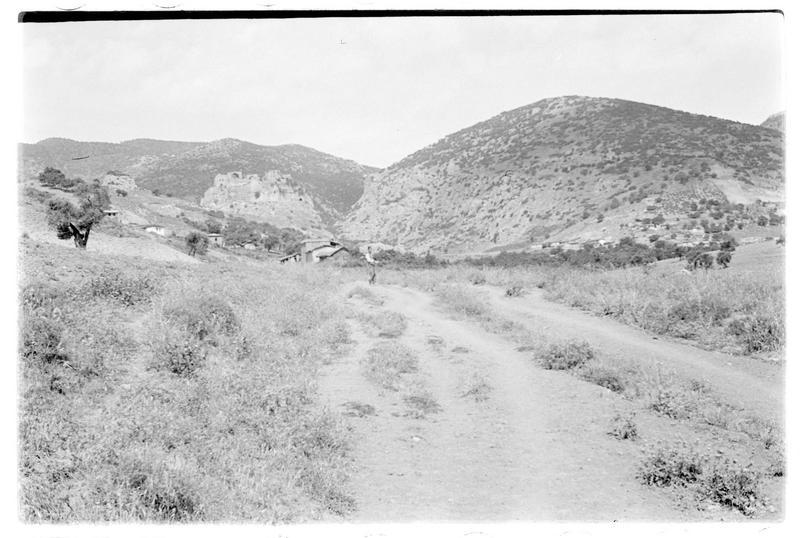 Le château et la route d'accès