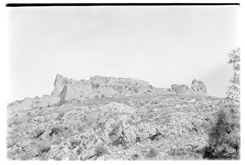 Vue générale du château haut, front sud-est