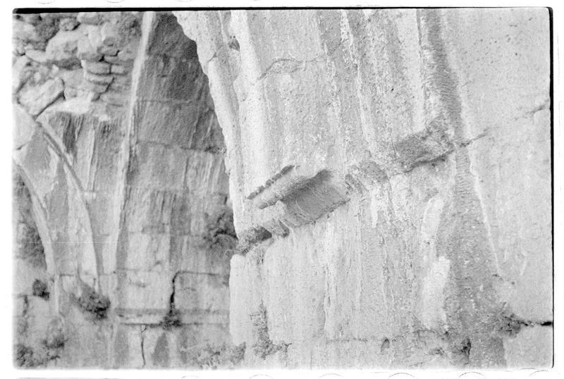Départs de voûtes du palais mamelouk du château haut