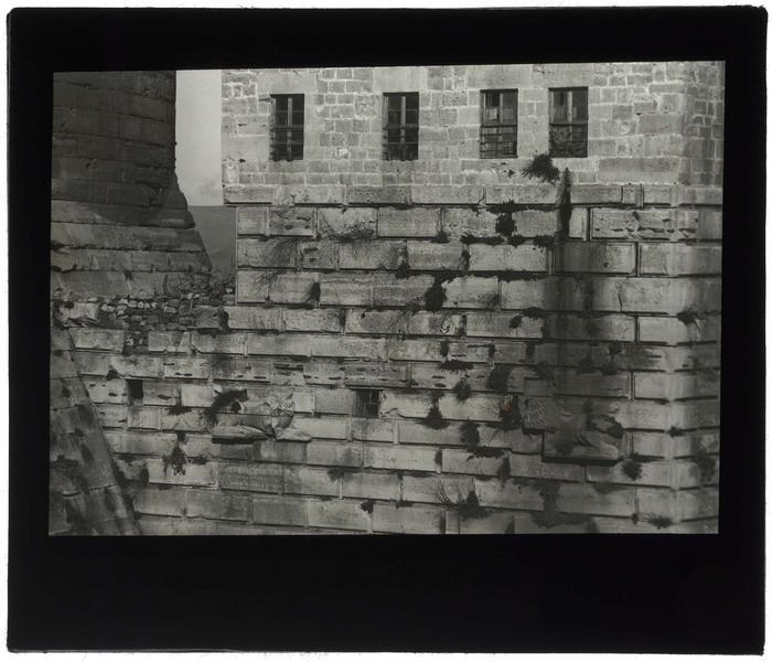 Facade ouest de la tour des Lions: détail