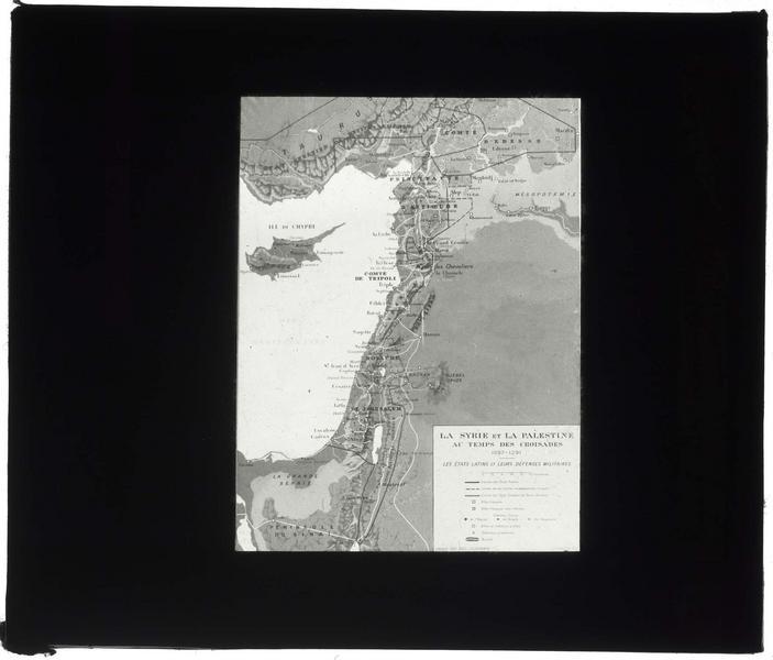 Carte de «La Syrie et la Palestine au temps des Croisades(1097-1291)», dressée par Paul Deschamps