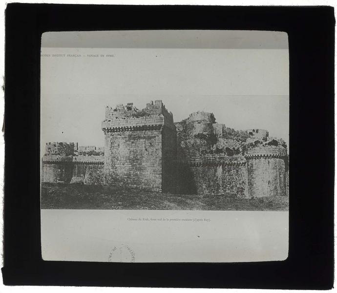 Reproduction d'une photo de Guillaume Rey, 1859: le front sud de l'enceinte extérieure