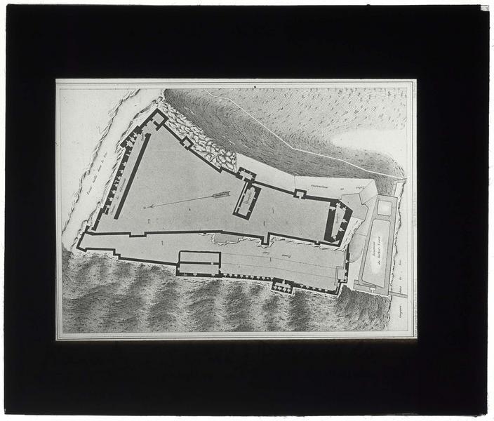 Reproduction du plan du château, d'après Mauss