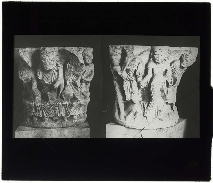 Chapiteaux provenant de Sébaste ou Samarie, illustrant le festin d'Hérode et la danse de Salomé, et conservés au musée d'Istanbul