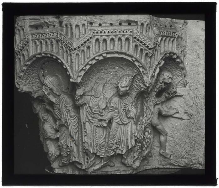 Chapiteau historié: légende de saint Matthieu
