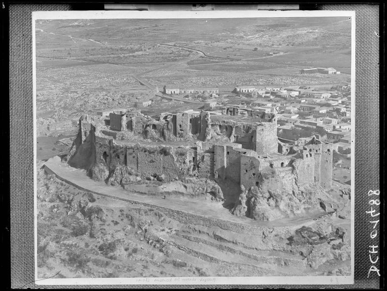 Reproduction d'une vue aérienne de la forteresse