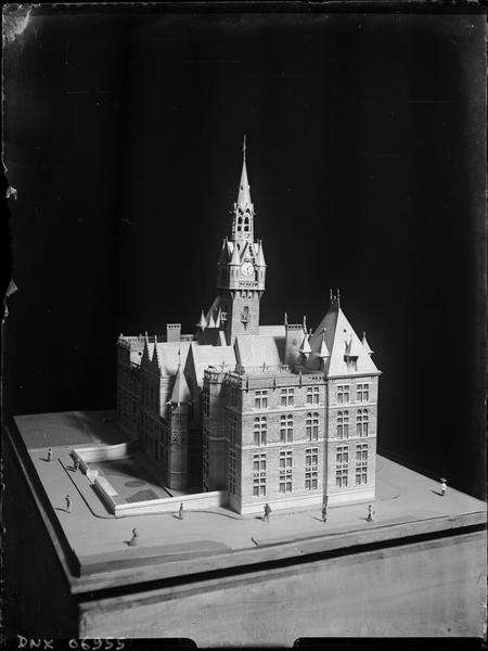 Maquette : façade latérale