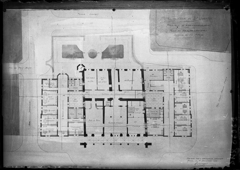 Plan du rez-de-chaussée (projet d'agrandissement)