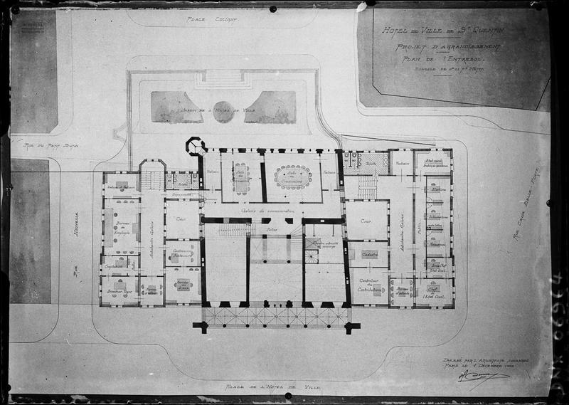 Plan de l'entresol (projet d'agrandissement)
