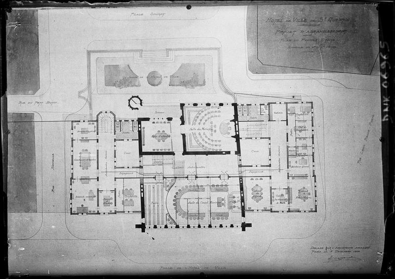 Plan du premier étage (projet d'agrandissement)