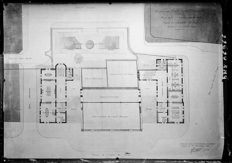 Plan du deuxième étage (projet d'agrandissement)