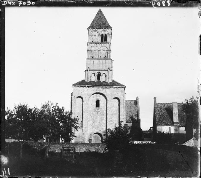 Clocher, façade ouest