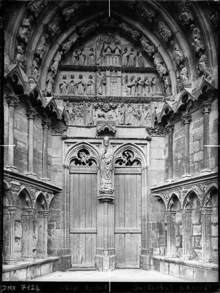 Cinquième portail de la façade ouest : porte saint-Ursin