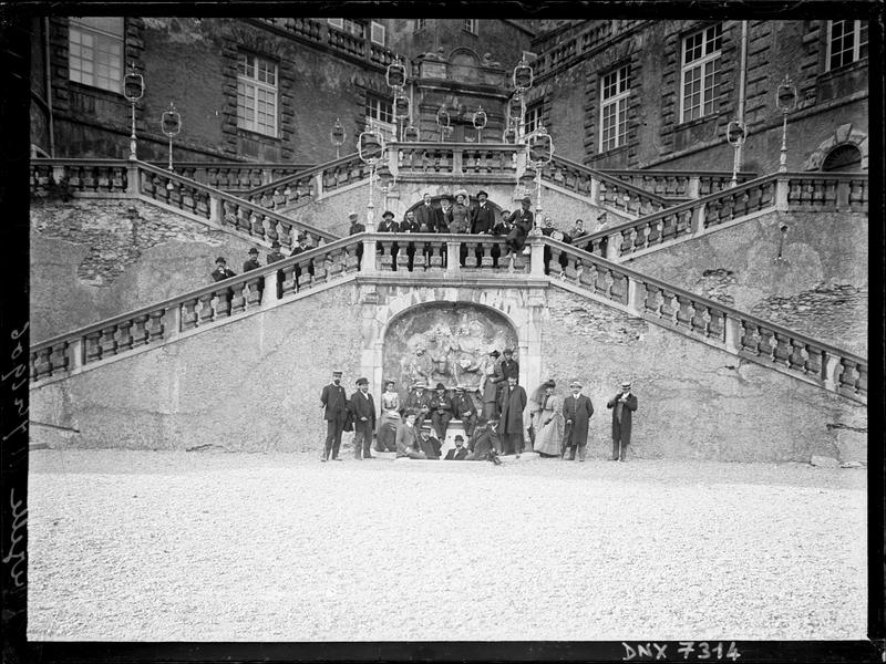 Château : escalier d'honneur