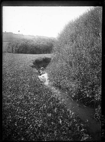 Rivière au pied d'une butte