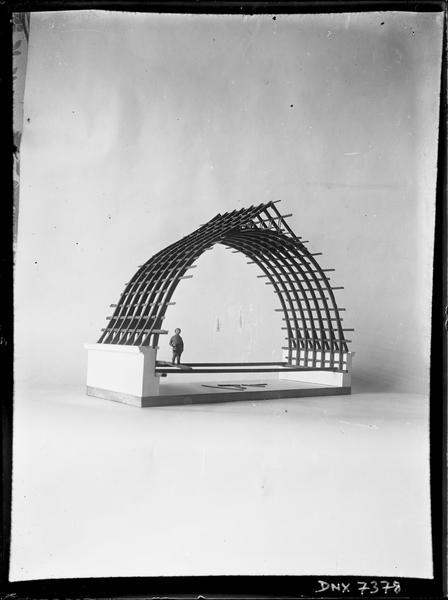 Maquette de charpente : vue oblique