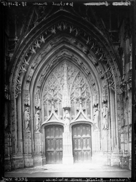 Façade occidentale : portail