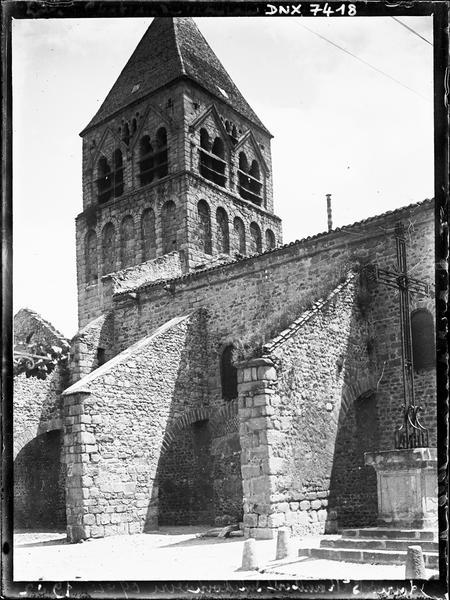 Clocher et façade nord