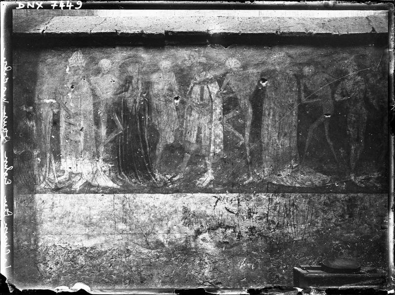 Peinture murale : La Danse macabre, premier registre