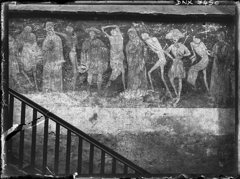 Peinture murale : La Danse macabre, deuxième registre