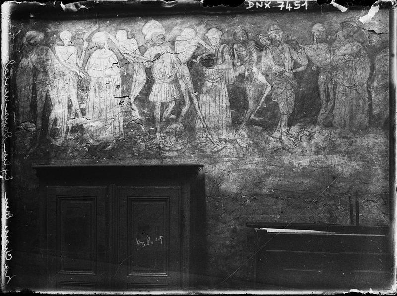 Peinture murale : La Danse macabre, troisième registre