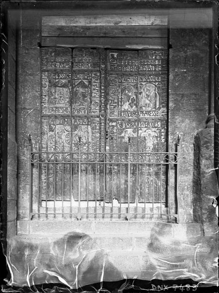 Façade ouest : vantaux de la porte nord