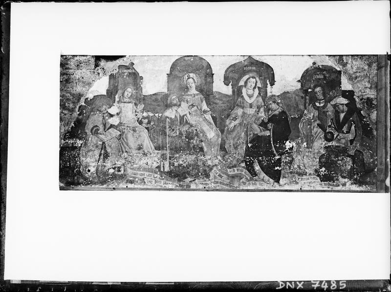 Peinture murale dans la Chapelle des Reliques : les Arts libéraux
