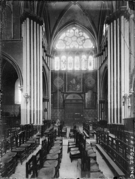 Intérieur : bras sud du transept