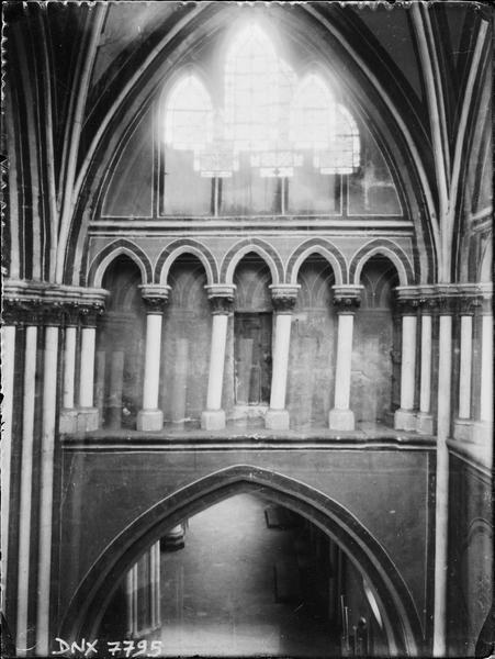 Intérieur : partie haute du transept