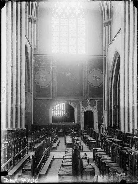 Intérieur : bras nord du transept