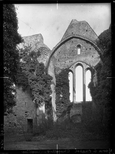 Ruines : ogive, pignon et baies