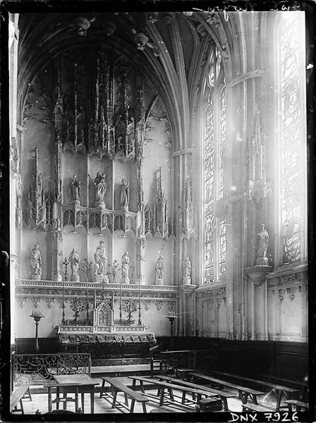 Intérieur, bas-côté sud : chapelle de l'Assomption, retable